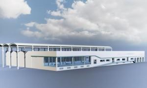 Le Pôle nautique du Léman : un port à sec de 500 bateaux, un chantier naval, une boutique nautique et un bureau d'étude d'architecture navale.