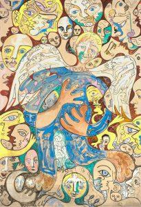 Alain Rothstein Ange 2, huile sur toile, 158x106cm : 15'000 euros.