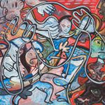 Alain Rothstein, Corrida, 1986, huile sur toile, 81x100cm