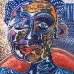 Alain Rothstein FACE BLEUE, 2008, huile sur toile, 55x46cm