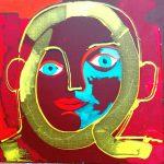Alain Rothstein Helios, 2016, Technique mixte sur toile, 45x45 cm : 5'500 euros