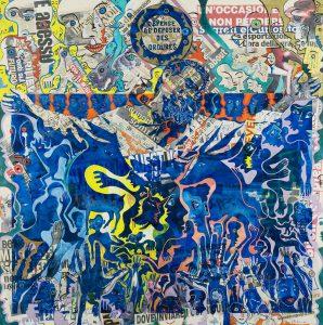 Alain Rothstein et Vincenzo Giuliano, Il Martirio di Vincenzo (Le martyre de Vincenzo) - Chapelle Saint-Glé,2010, huile sur toile, 130x 130 cm : 10'000 euros.