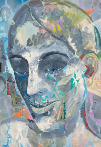 Alain Rothstein INTROSPECTION, 2012, huile sur toile, 73x50cm : 6'000 euros.