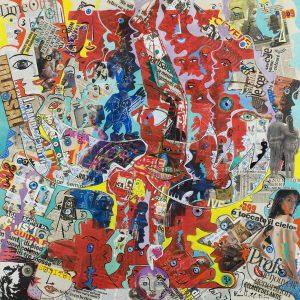 Alain Rothstein et Vincenzo Giuliano, La Caduta dell'Angelo (La chute de l'ange Angelo) - Chapelle Saint-Glé, 2010, huile sur toile, 130 x 130cm : 10'000 euros.