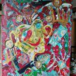 Alain Rothstein Le jongleur, 2016, collage et techniques mixtes sur toile, 81x65 cm : 7'000 euros.