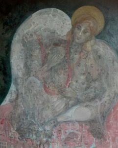 Alain Rothstein le secret révélé, huile sur toile, 100X81cm : col. privée