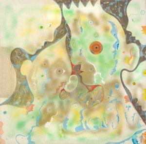 Alain Rothstein Murmure, 1996, huile sur toile, 90x90cm : 9'500 euros.