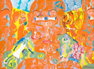 Alain Rothstein NO DE GION, 2011, huile sur toile, 46x61cm : 4'300 euros.