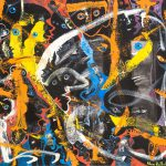 Alain Rothstein Partage des eaux au soleil couchant, 2013, huile sur toile, 54x65cm