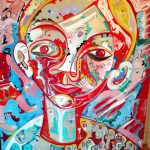 Alain Rothstein PORTRAIT MELCHIOR, 2008, huile sur toile, 53x64 cm