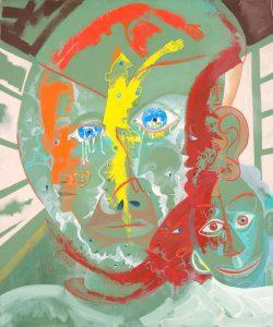 Alain Rothstein LE SAMOURAI, 2013, huile sur toile, 65x55cm : 5'000 euros.