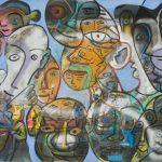Alain Rothstein, Sans titre A, huile sur toile, 81x117cm