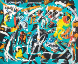 Alain Rothstein SUR LE GREEN, 2013, huile sur toile, 54x65cm : 5'000 euros
