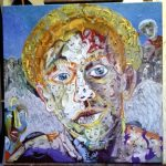 Alain Rothstein TÊTE D'ANGE, 2017, huile sur toile, 60x60 cm
