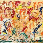 Alain Rothstein GAMMES, 2013, huile sur toile, 140x210cm : 20'000 euros.
