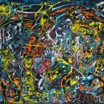 Alain Rothstein GRANDE NOIRE, 2013, huile sur toile, 220x300cm : (coll. Privée).