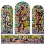 Alain Rothstein, arts visuels et peinture - oeuvres sur toiles de la série Chapelle Saint-Glé