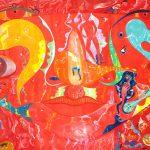 Alain Rothstein, arts visuels et peinture - oeuvres sur toiles de la série rouge