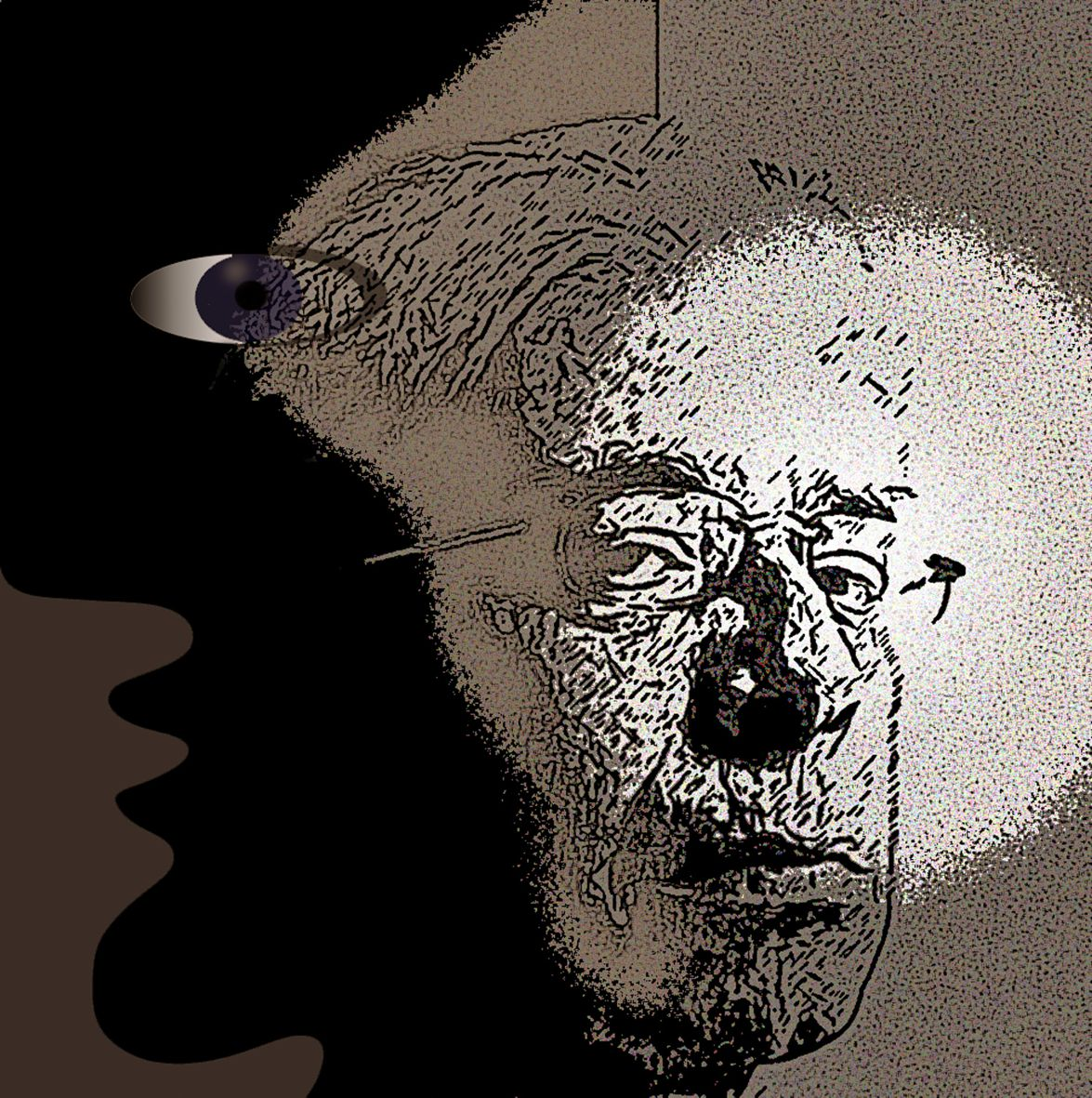 Alain Rothstein, artiste peintre, autoportrait (arts visuels)