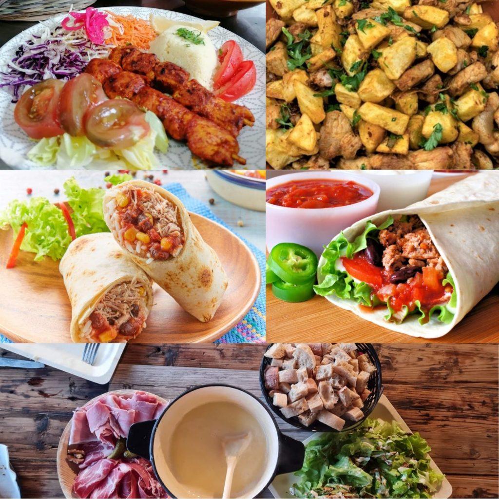 Ambiance culinaire, plats et restauration au marché de la Seiche, Sevrier - belles photos.