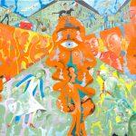 Alain Rothstein 14 JUILLET, 2011, huile sur toile, 46x61cm : 4'300 euros.