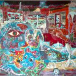 Alain Rothstein Aéronef des fous, 2016, huile sur toile, 140x210cm : 30'000 euros.