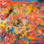 Alain Rothstein AGAY, LA PLAGE, 2010, huile sur toile, 50x61cm : 4'800 euros.