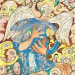 Alain Rothstein Ange 2, huile sur toile, 158x106cm
