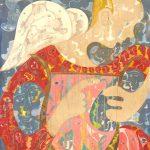 Alain Rothstein Ange à la lyre, 2014, huile sur toile, 124x88cm