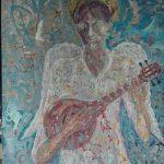 Alain Rothstein ANGE À LA MANDOLINE, 2014, 100×80 cm