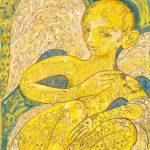 Alain Rothstein Ange déchu, 1990, huile sur toile, 140x95cm