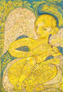 Alain Rothstein Ange déchu, 1990, huile sur toile, 140x95cm : 12'000 euros