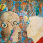 Alain Rothstein Autoportrait, 1996, huile sur toile, 45.5x37.5cm