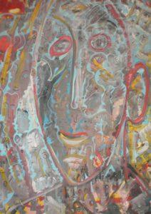 Alain Rothstein AUTOPORTRAIT, 2008, huile sur toile, 61x46cm : 4'300 euros.