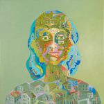 Alain Rothstein CONTESSINA,2012, huile sur toile, 40x40cm