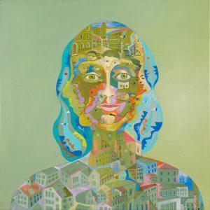 Alain Rothstein CONTESSINA,2012, huile sur toile, 40x40cm : 4'000 euros.