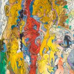 Alain Rothstein Dialogues ou la Conversation, 2010, huile sur toile, 51x60cm