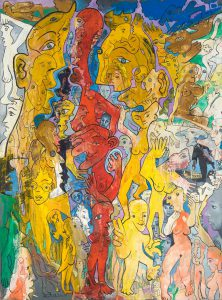 Alain Rothstein Dialogues ou la conversation, 2010, huile sur toile, 81x60cm : 6'200 euros.