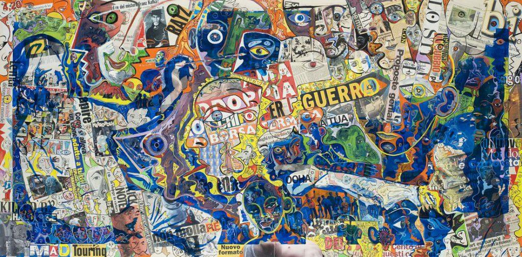 Alain Rothstein et Vincenzo Giuliano, Ecce Homo - Chapelle Saint-Glé, 2008, huile sur toile, 100 x 200 cm : 20'000 euros.