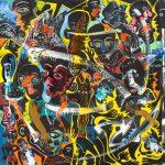 Alain Rothstein E=MC3, 2013, huile sur toile, 60x60cm : 5'000 euros