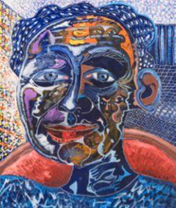 Alain Rothstein FACE BLEUE, 2008, huile sur toile, 55x46cm : 4'300 euros.