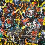 Alain Rothstein HARPE BLANCHE, 2013, huile sur toile, 60x60cm : 5'000 euros