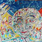 Alain Rothstein Hello 2016, huile sur toile , 81x60cm : 7'000 euros.