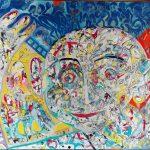 Alain Rothstein Hello 2016, huile sur toile , 81x60cm : 9'100 euros.