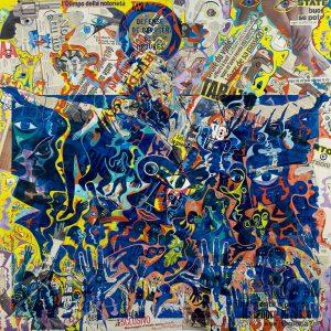 Alain Rothstein et Vincenzo Giuliano, Il Martirio di Alain (Le martyre d'Alain) - Chapelle Saint-Glé, 2010, huile sur toile, 130x130cm : 10'000 euros.
