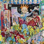 Alain Rothstein et Vincenzo Giuliano, Il Predicatore (Le prédicateur) - Chapelle Saint-Glé, 2008, huile sur toile, 130x 130cm : 10'000 euros.
