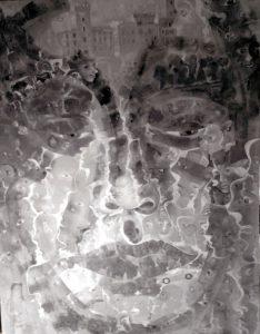 Alain Rothstein IRE ET DÉLIRE DU POÈTE, 2016, huile sur toile, 130×97 cm : 13'000 euros