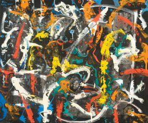Alain Rothstein JUKE BOX, 2013, huile sur toile, 54x65 cm : 5'000 euros