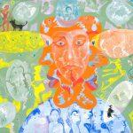 Alain Rothstein L'EGOCENTRIQUE 2011, huile sur toile, 46x61cm