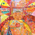 Alain Rothstein L'ENFANCE D'ALEXANDRE (LE GRAND), 2011, huile sur toile, 130x161cm : (coll. Privée).